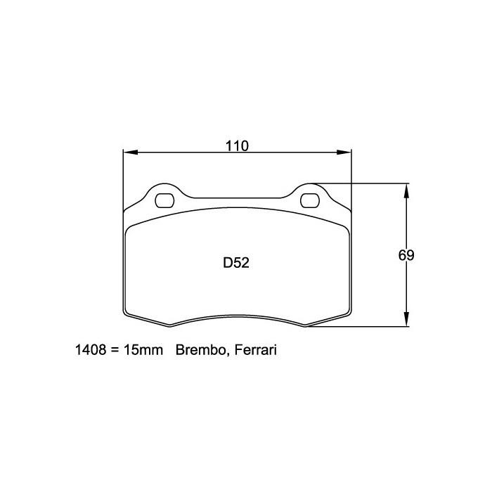 Plaquettes de frein Pagid RS29 1408