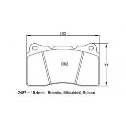 Plaquettes de frein Pagid RS29 2487