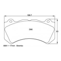 Plaquettes de frein Pagid RS29 8081