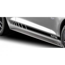 Bandes latérales Mustang (noir mat) - Mustang 2015-2016
