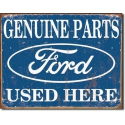 Plaque déco Ford Parts Used Here