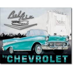 Plaque déco 1957 Chevy Bel Air