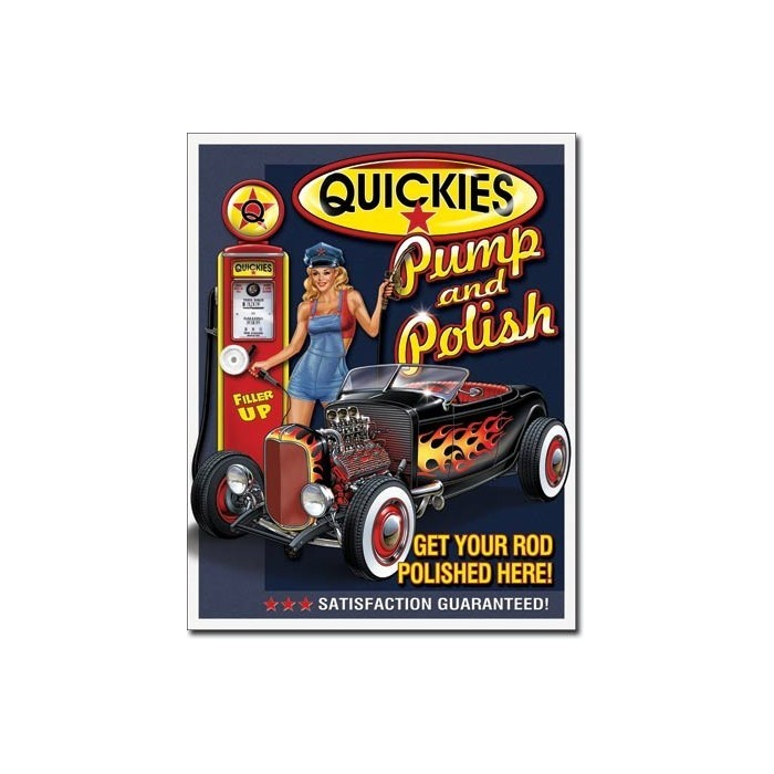 Plaque déco Quickies Pump & Polish