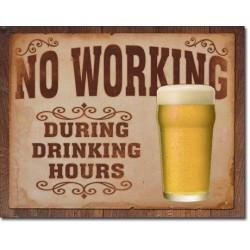 Plaque déco No Working