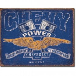Plaque déco Chevy Power