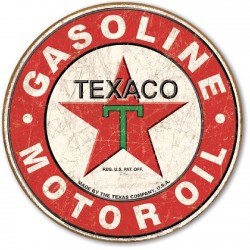 Plaque déco Texaco Gasoline Motor Oil 1926