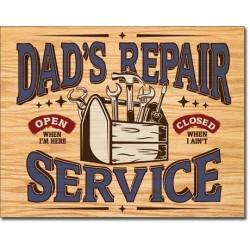 Plaque déco Dad's Repair Service