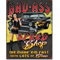 Plaque déco Bad Ass Speed Shop