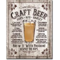 Plaque déco Craft Beer - Brew it Passion !