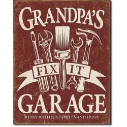 Plaque déco Grandpa's Garage