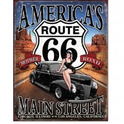 Plaque déco Route 66 America's Main Street