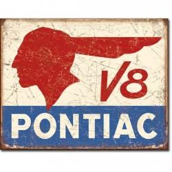 Plaque déco Pontiac V8