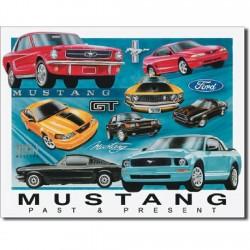 Plaque déco Ford Mustang Passé & Présent
