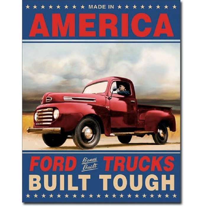Plaque déco Ford Trucks Built Tough