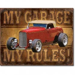 Plaque déco My Garage, My Rules - Rod