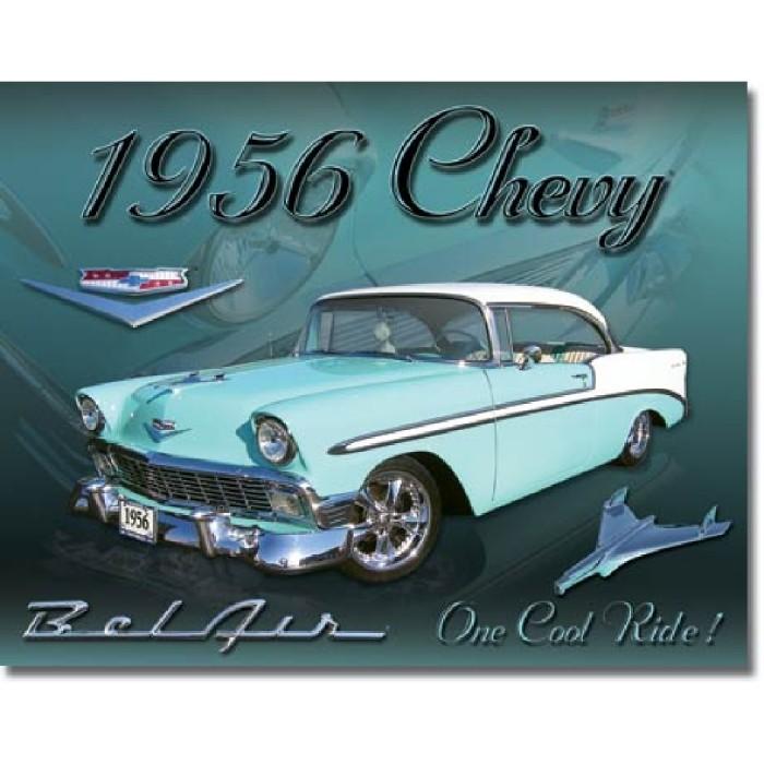 Plaque déco Chevy 1956 Bel Air