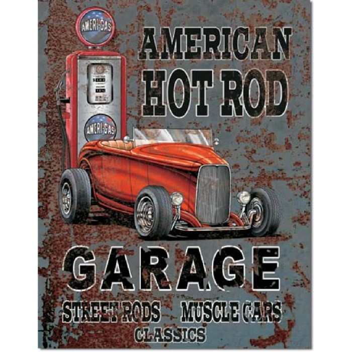 Plaque déco American Hot Rod Garage