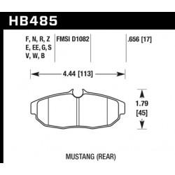 Plaquettes de frein hawk HPS HB485F.656