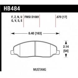 Plaquettes de frein Hawk HPS HB484F.670