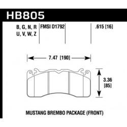 PLAQUETTES DE FREIN HAWK PERFORMANCE HPS HB805B.615