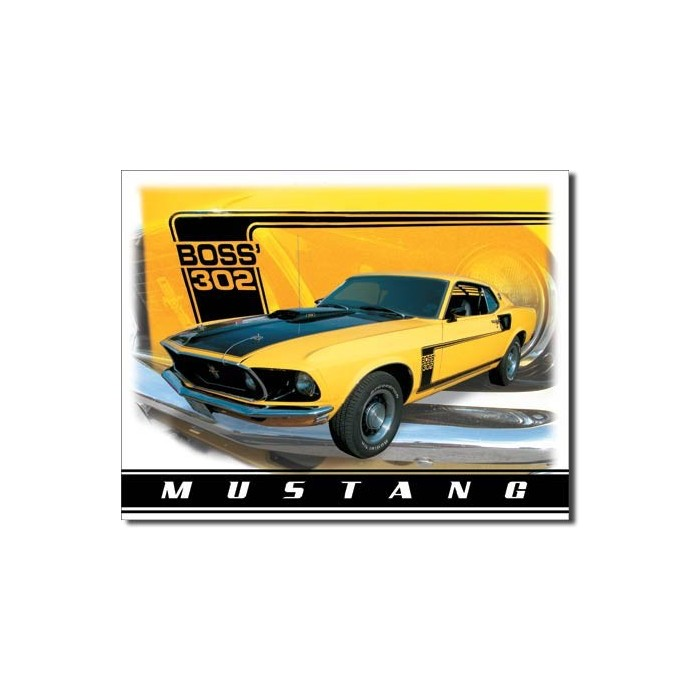 Plaque déco Ford Mustang Boss 302