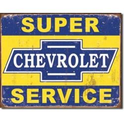 Plaque déco Super Chevy Service