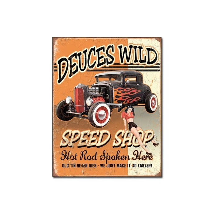 Plaque déco Deuces Wild Speed Shop
