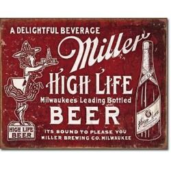 Plaque déco Miller Beer High Life