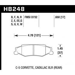 Jeu de plaquettes de frein HPS Hawk Performance HB248F.650 - Corvette 97-13