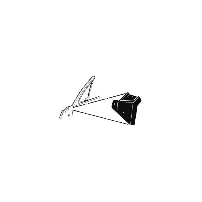 Joints habillage petite fenêtre/porte Scott Drake C7ZZ-6522332/3