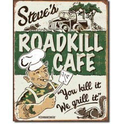 Plaque déco Roadkill Cafe