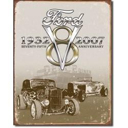 Plaque déco Ford Deuce 75th Anniversary - édition limitée