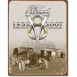 Plaque déco Ford Deuce 75th Anniversary