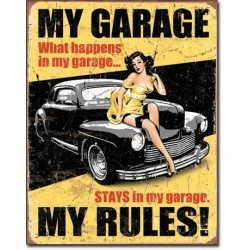 Plaque déco My Garage My Rules
