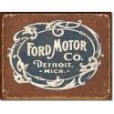 Plaque déco vintage Ford Motor Detroit