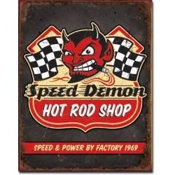 Plaque déco Speed Demon Hot Rods