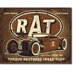 Plaque déco Torque Brothers Rat Rod