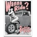 Plaque déco Wanna ride ?
