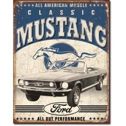 Plaque déco Classic Mustang