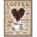 Plaque déco Heart Coffee