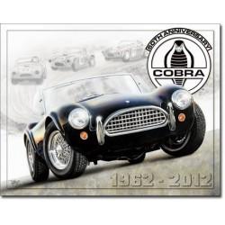 Plaque déco Shelby Cobra 50ème anniversaire
