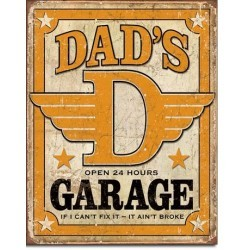 Plaque déco Dad's garage