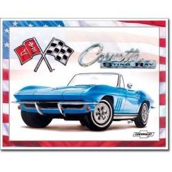 Plaque déco Corvette 65 Sting Ray - édition limitée