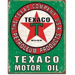 Plaque déco Texaco Oil Weathered
