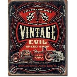 Plaque déco Vintage Evil Speed Shop