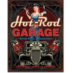 Plaque déco Hot Rod Garage