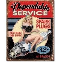 Plaque déco Dependable service