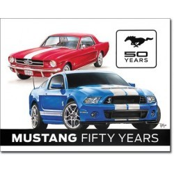 Plaque déco Ford Mustang 50 years