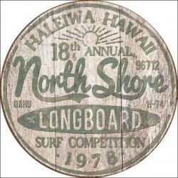 Plaque déco North Shore Surf