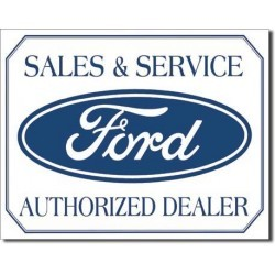 Plaque déco Sales & Service Ford
